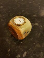 Premium Onyx Marble Antique Dice Clock Showpiece, Masterpiece Exceptionally Rare