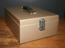 VTG Metal Lock Box Portable Check File Case  Thick Steel  Storage Rockaway Metal