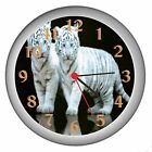 White Tiger Cubs Room Decor Wall Clock