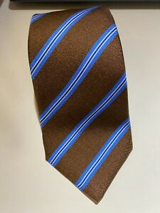 Kiton 7-Fold 100% Silk Striped Tie