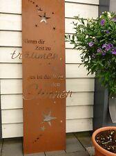 Edelrost Gartenschild Metall Träumen Weg zu den Sternen Tafel Deko Gedichttafel