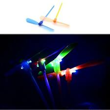 2pcs LED Flying Dragonfly Toy Plastic Helicopter Boomerang Novelty Party Baby