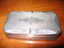 Boîte Tabatière argent massif Minerve 67gr silver snuffbox Napoléon III XIXème