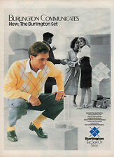 Publicité Advertising 1985  Chaussettes BURLINGTON collection mode pull