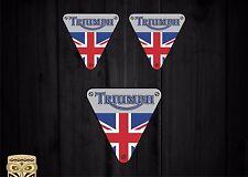 PEGATINA ADESIVO AUTOCOLLANT ADESIVI STICKER TRIUMPH BRITISH UK FLAG HELMET CAR