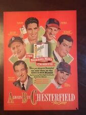 "1948, Ted Williams / Joe DiMaggio / Stan Musial, ""Chesterfield"" Cigarette Ad"