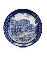 North Dakota Plate Minot State Old Main Building Royal Blue Chateau Vintage