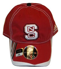 Adidas NC State Wolfpack Cap Flex Fit Hat Slouch Style North Carolina St Logo