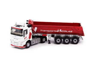 "Scale model truck 1:43 VOLVO FH4 500 (low roof) with semi-trailer dump truck ""NI"
