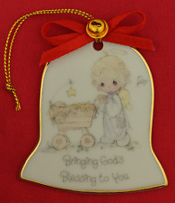 Vintage Enesco Precious Moments Bringing God'S Blessing To You Bell Ornament