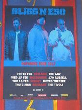 Bliss N Eso - 2017 Australian Tour - Dopamine Tour - Laminated Promo Poster