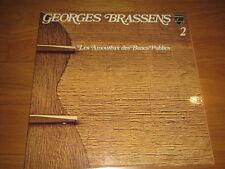 """a3 12"""" vinyl record GEORGES BRASSENS N° 2 LES AMOUREUX DES BANCS PUBLICS fold ou"""