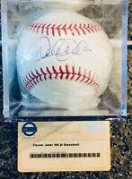 Derek Jeter Signed Autograph Baseball Steiner COA
