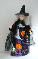 Dolls House Miniature Pumpkin Dress Witch  1-12TH Scale