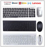 Lenovo IBM PC Slim Wireless UK QWERTY Keyboard Mouse Windows Linux SK-8861