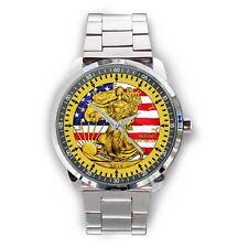 PATRIOTIC LIBERTY FLAG – 2016 1 oz American Silver Eagle Coin Sport Metal Watch