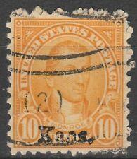 USA Scott #  668 Kansas overprint 10 Cent Used ( 668-2)