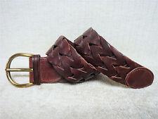 "BANANA REPUBLIC - 2"" Wide Women's Casual Fashion Belt - Brown Leather - Size XS"