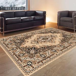 Orientteppich Teppich Perser Klassisch Strapazierfähig Pflegeleicht Beige Braun