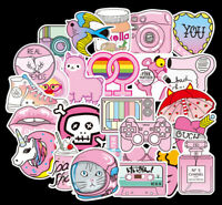 Decal Pack Pink VSCO Cute Girl Power Laptop Vinyl Sticker Bomb Small 5-9cm