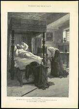 """1888 - Antique Print FINE ART """"For Faith and Freedom"""" Walter Besant  (225)"""