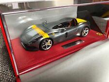 BBR 1:18 Ferrari Monza SP1 Paris Auto Show 2018 - Silver - P1864A