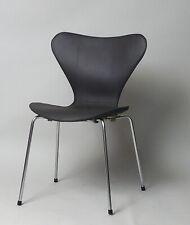 Arne Jacobsen Stuhl No. 3107 Fritz Hansen Leder dunkelbraun abnehmbar