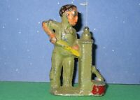 RARE Manoil Barclay? Lead Toy Farmer pumping Water from WELL -@@ Clearance @@-