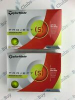 24 x TaylorMade Project S Yellow Golf Balls BRAND NEW 2 Dozen