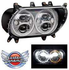 Custom Dynamics TruBeam Headlight for Road Glide 2015-18 - DRL and Turn Signals