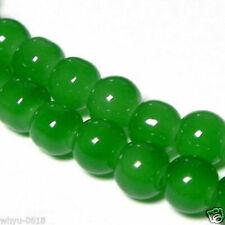 "12mm Green Jade Round Gemstone Loose Beads 15"""