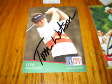 tom watson autographed 1991 proset golf signed card # 41