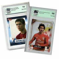 Joao Felix Campioni 2018 & Cristiano Ronaldo RR 2004 PGI 10 Rookie Card 2-Pack