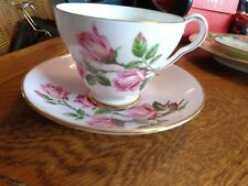 ROYAL GRAFTON FINE BONE CHINA TEA CUP & MATCHING SAUCER LIGHT PINK/ROSES
