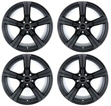 18x8 Kudo Racing Raiden 5x114.3 +40mm Gloss Black Wheels Rims New Set(4)