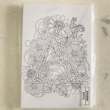 Ganz Wama Colouring Letter A - Set of 24 Monogram Postcards to Colour Initial