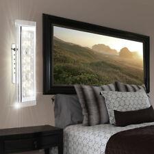 Luxus LED Kristall Wand Lampe Wohn Schlaf Zimmer Beleuchtung Glas Leuchte Chrom