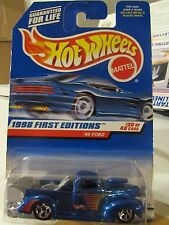 Hot Wheels '40 Ford 1998 First Editions Blue!