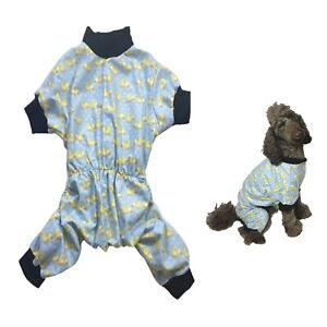 Dog Pyjamas Flannelette Blue Ducklings XS S M L Pjs Sleepwear Australian Made