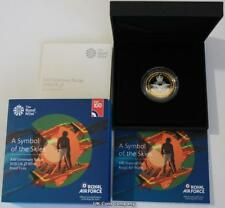 2018 UK £2 Silver Proof Coin RAF Centenary Badge Issued By The Royal Mint