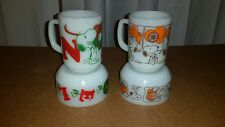 4 VINTAGE FIRE KING ANCHOR HOCKING SNOOPY MUGS & BOWLS