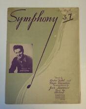 SYMPHONY 37 Vintage Sheet Music 1945 Tabet Bernstein American Version Lawerence