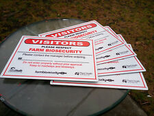 Farm Biosecurity Safety Sign Metal 450x300mm Fast Delivery-Purchase 4 get 1 more