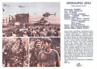 APOCALYPSE NOW Original EXYU YUGOSLAV Movie Program 1979 MARLON BRANDO COPPOLA