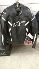 GIACCA IN PELLE MOTO ALPINESTARS GP PLUS R v2 BLACK WHITE NERA TG 48