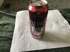 Craft Beer Tule duck red ale 16 oz bottom opened empty beer can.