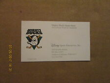 NHL Mighty Ducks Team Store Vintage Logo Hockey Business Card