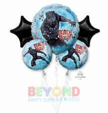 Black Panther Birthday Mylar Bouquet Balloons Party Decoration Set of 5
