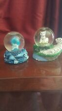 Dolphin and Tiger Small Snow Globes - Lot of 2