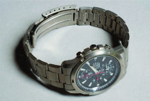 SEIKO TITANIUM CHRONO FROM THE 90's LOW PRODUCTION NUMBER OD0175 MINT @ $4.99